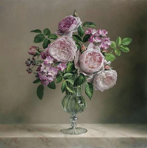 唯美花卉油画,比利时Pieter Wagemans作品插图49
