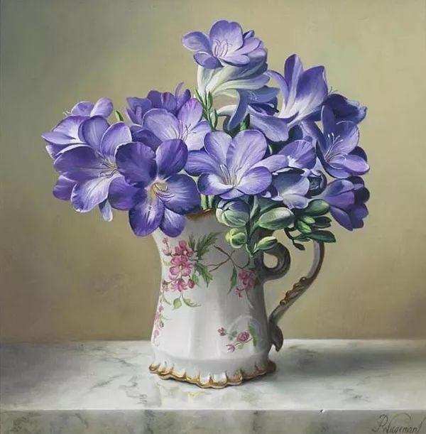 唯美花卉油画,比利时Pieter Wagemans作品插图51