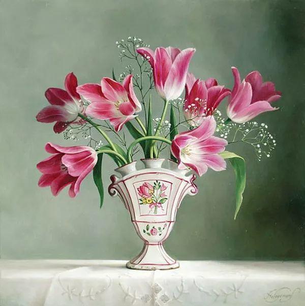 唯美花卉油画,比利时Pieter Wagemans作品插图53