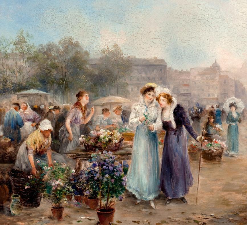 100多年前,迷人的维也纳风景,小城集市!插图1
