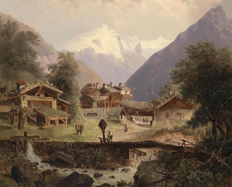 100多年前,迷人的维也纳风景,小城集市!插图59