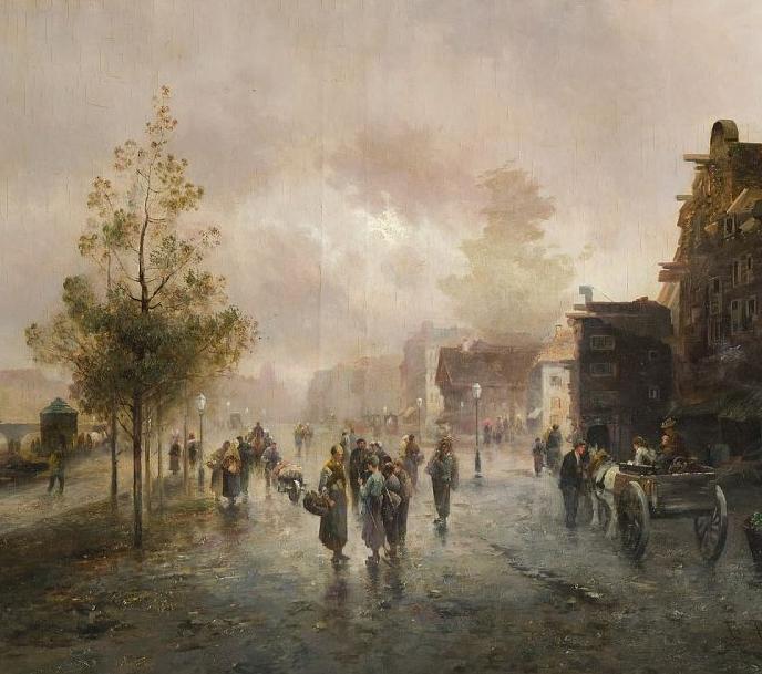 100多年前,迷人的维也纳风景,小城集市!插图83
