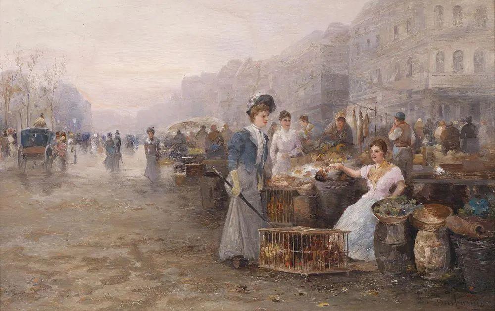 100多年前,迷人的维也纳风景,小城集市!插图85