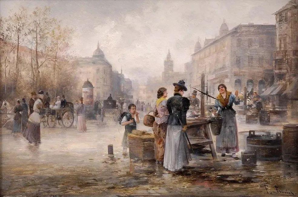 100多年前,迷人的维也纳风景,小城集市!插图93