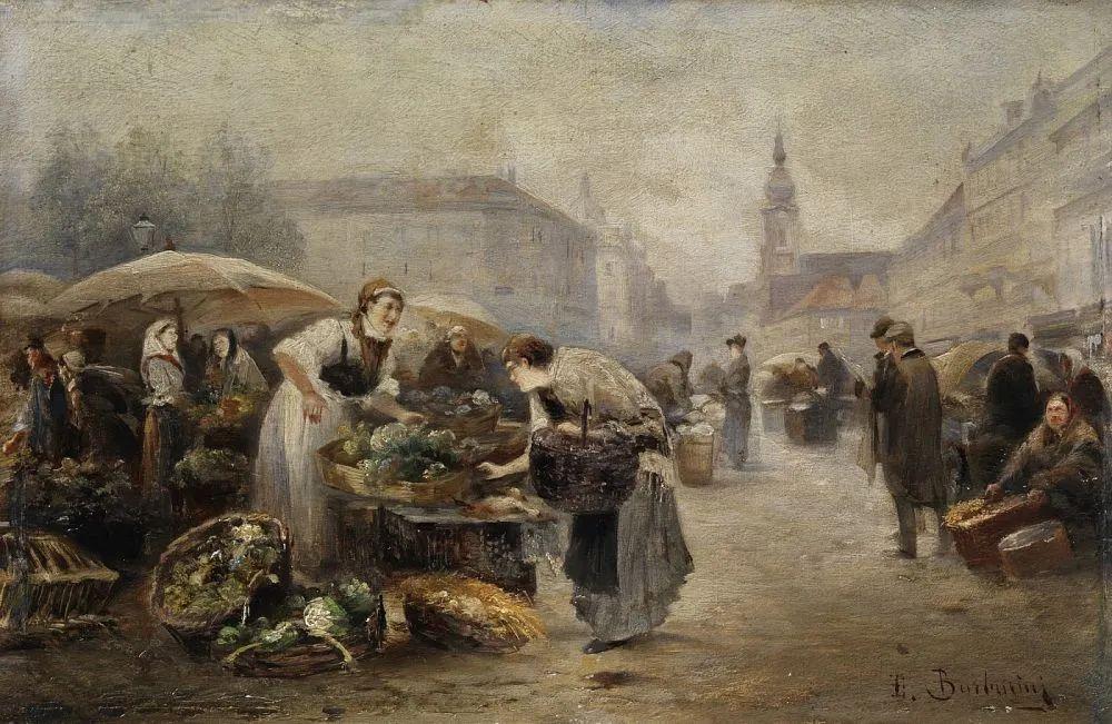 100多年前,迷人的维也纳风景,小城集市!插图97