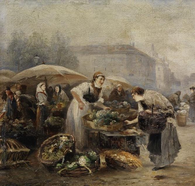 100多年前,迷人的维也纳风景,小城集市!插图99