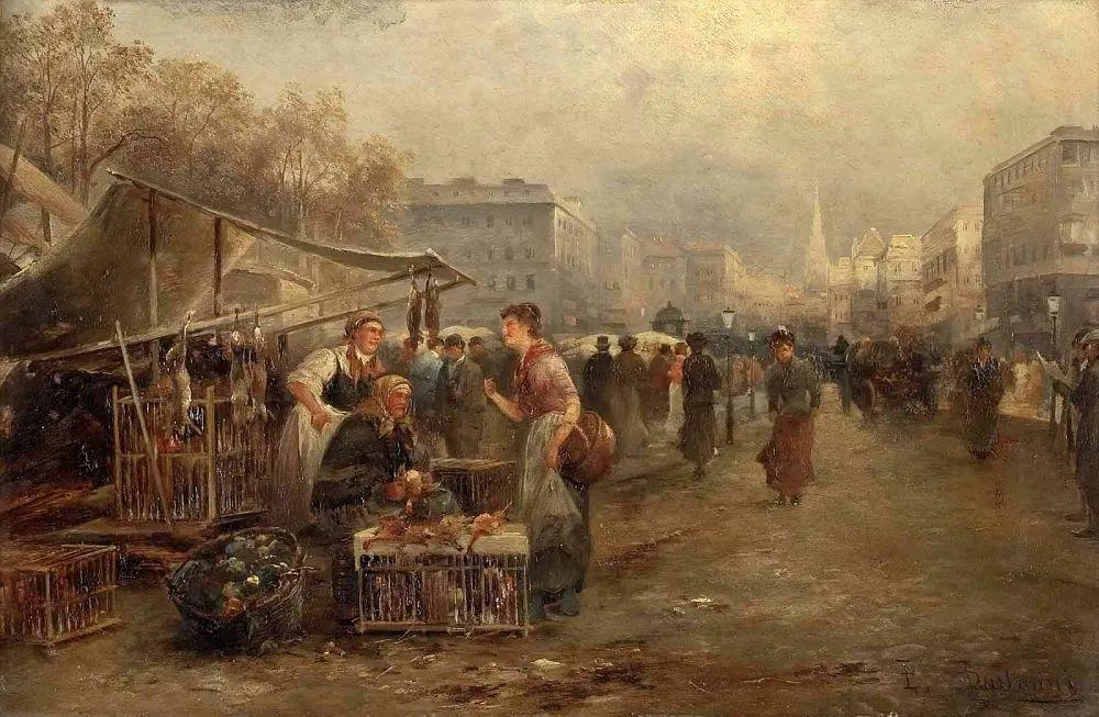 100多年前,迷人的维也纳风景,小城集市!插图101