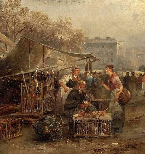 100多年前,迷人的维也纳风景,小城集市!插图103