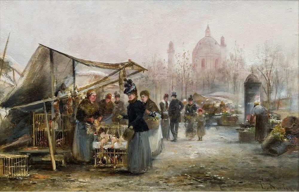100多年前,迷人的维也纳风景,小城集市!插图105