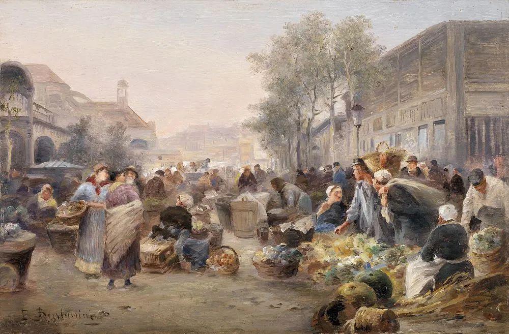 100多年前,迷人的维也纳风景,小城集市!插图109
