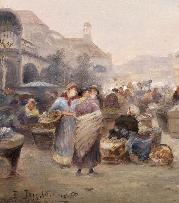 100多年前,迷人的维也纳风景,小城集市!插图111
