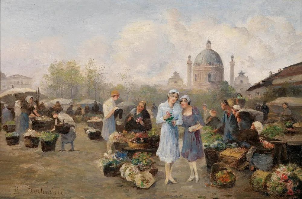 100多年前,迷人的维也纳风景,小城集市!插图115