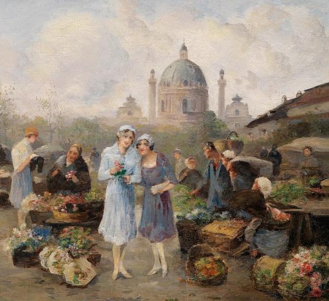 100多年前,迷人的维也纳风景,小城集市!插图117