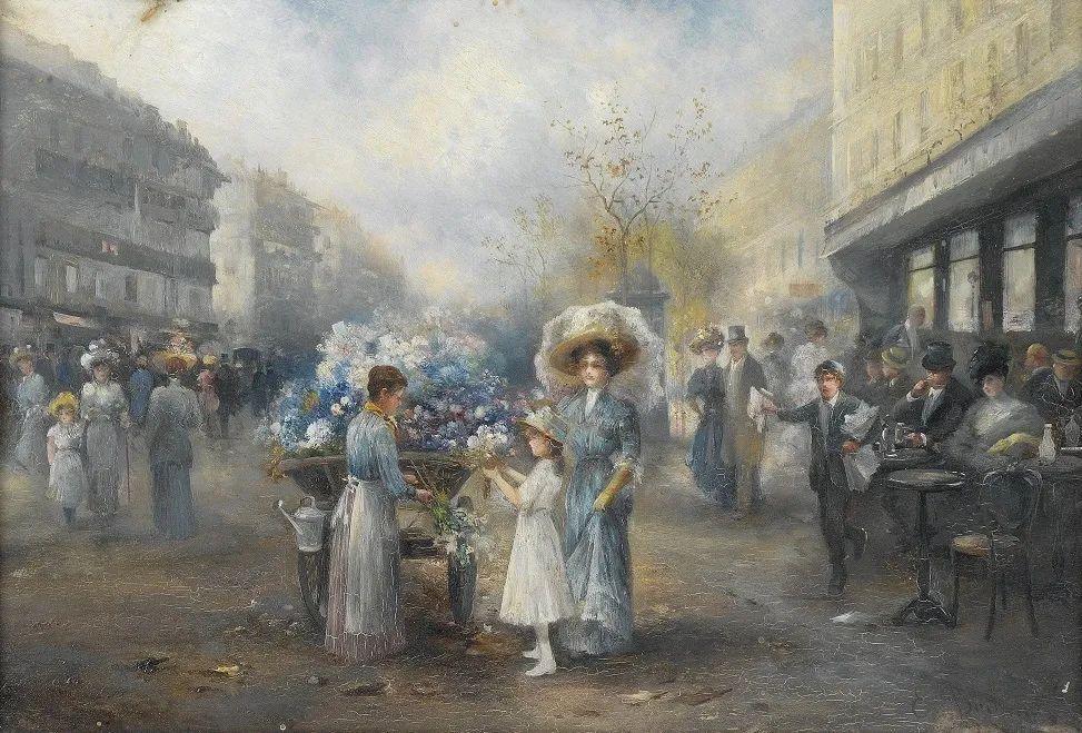 100多年前,迷人的维也纳风景,小城集市!插图127