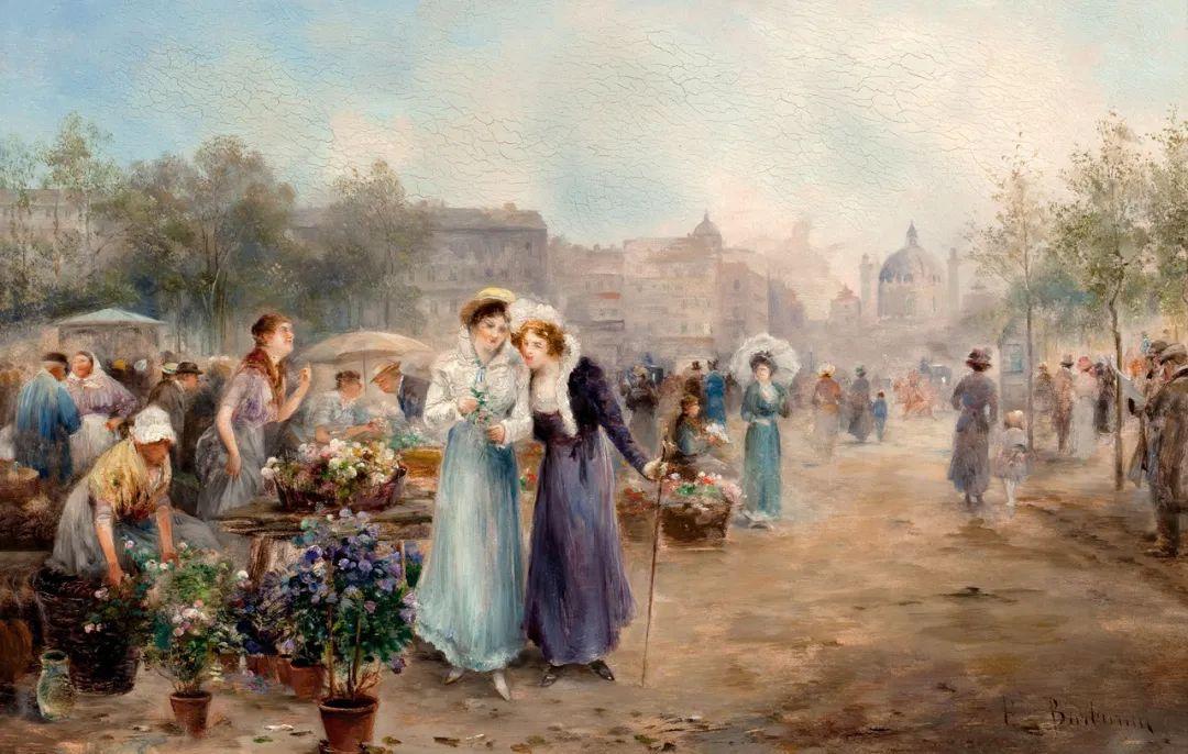 100多年前,迷人的维也纳风景,小城集市!插图135