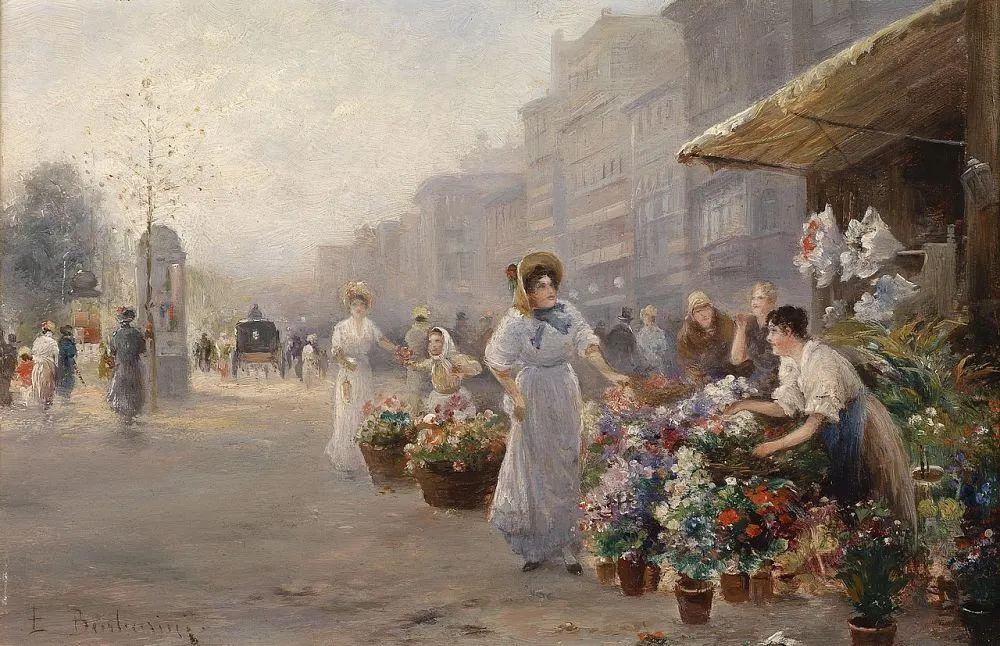 100多年前,迷人的维也纳风景,小城集市!插图139