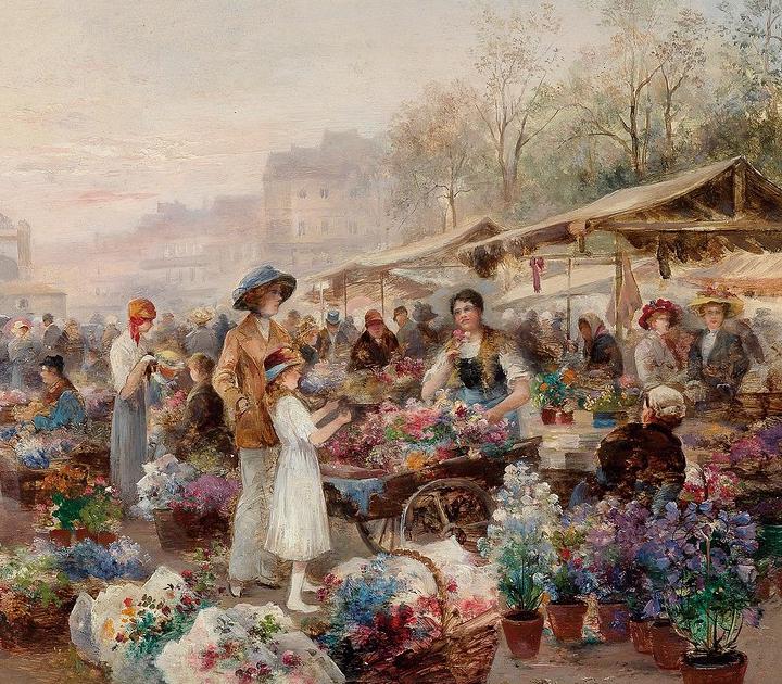 100多年前,迷人的维也纳风景,小城集市!插图149