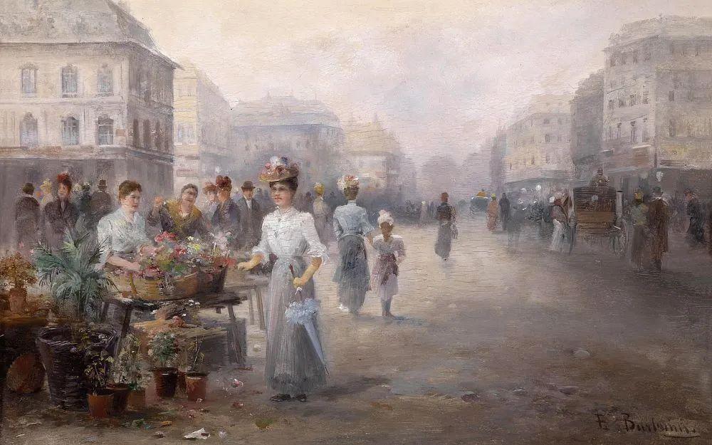 100多年前,迷人的维也纳风景,小城集市!插图151