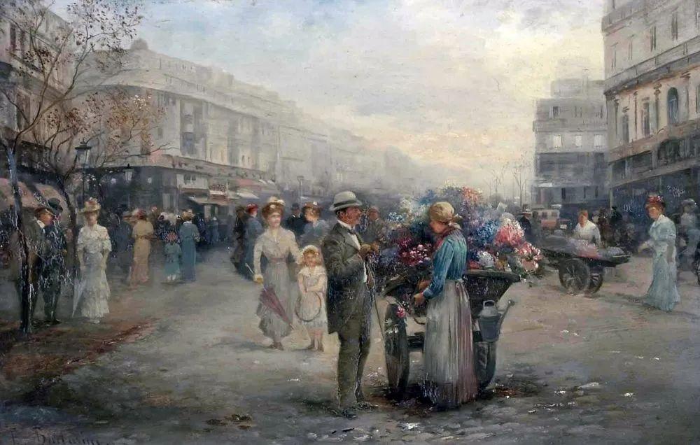 100多年前,迷人的维也纳风景,小城集市!插图153