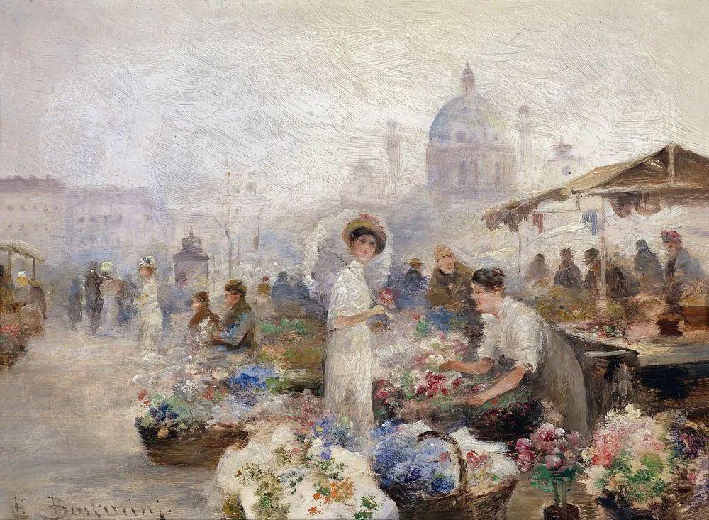 100多年前,迷人的维也纳风景,小城集市!插图157