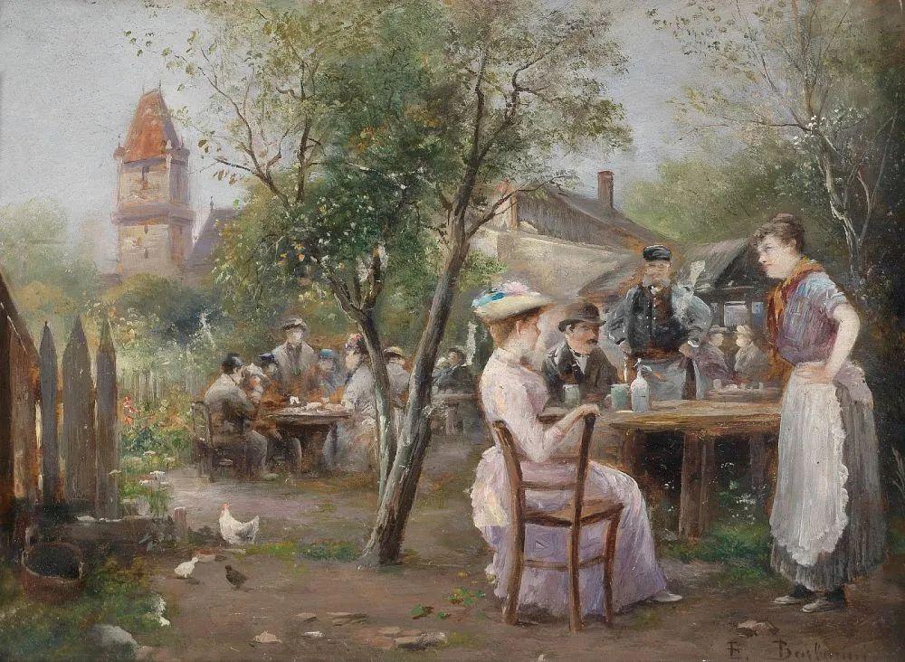 100多年前,迷人的维也纳风景,小城集市!插图159
