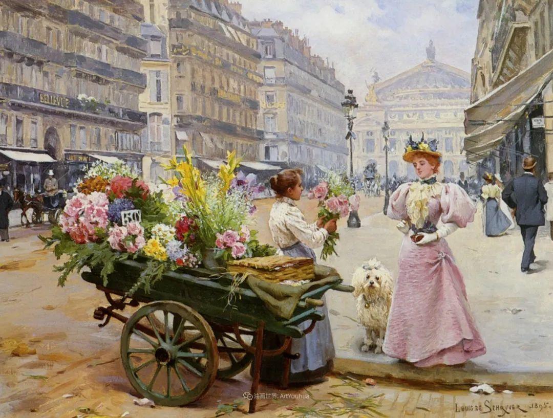 100年多前,她们是这样摆摊卖花的,好美的画面!插图