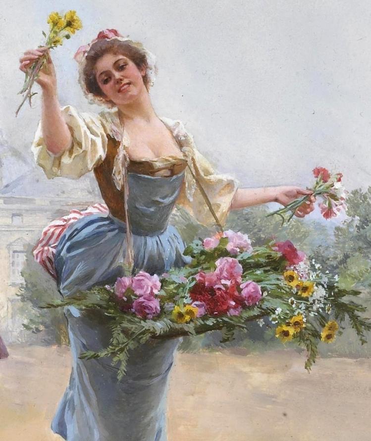 100年多前,她们是这样摆摊卖花的,好美的画面!插图2