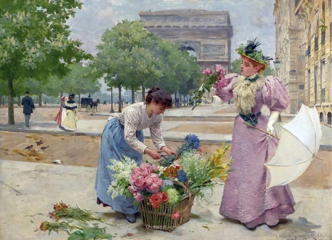 100年多前,她们是这样摆摊卖花的,好美的画面!插图3
