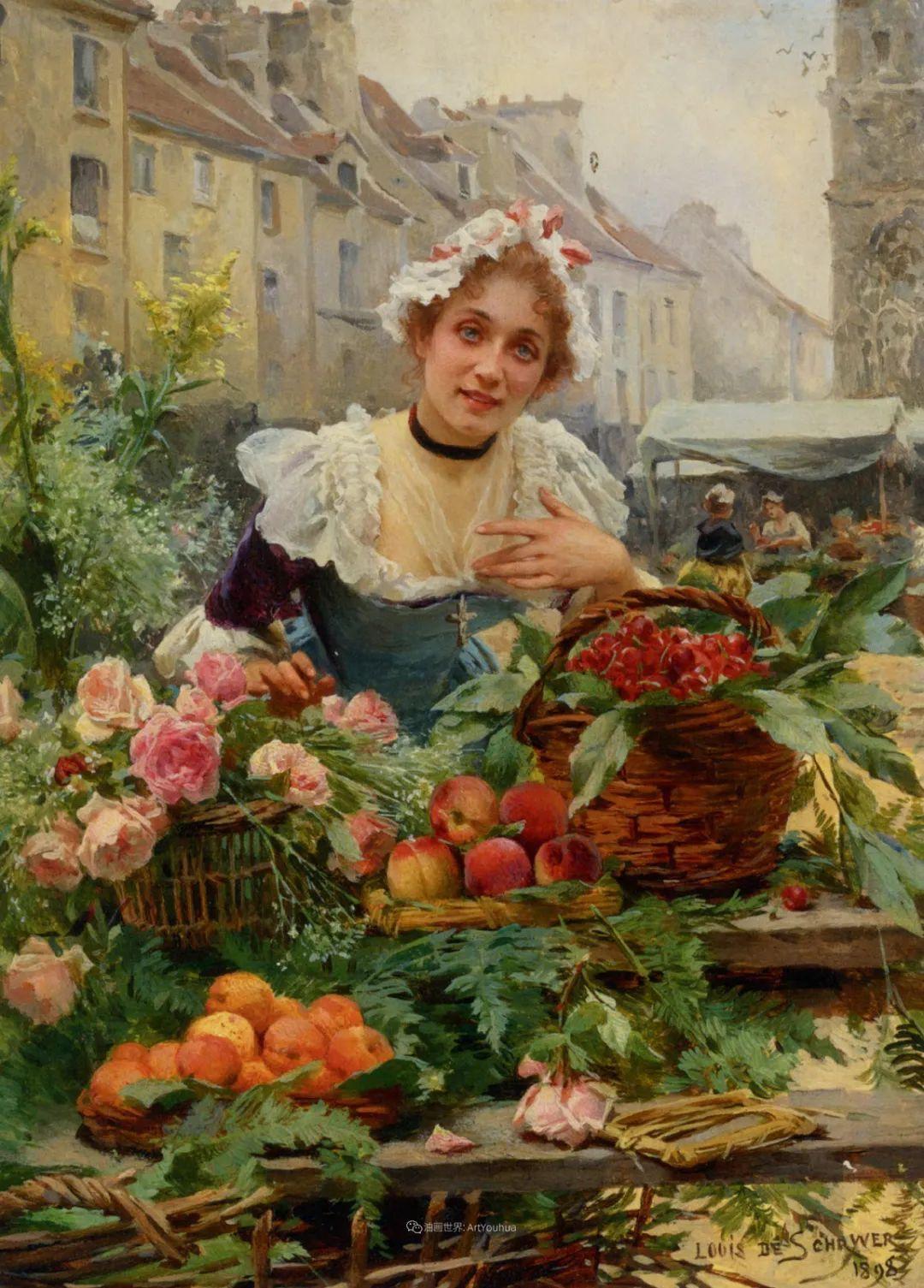 100年多前,她们是这样摆摊卖花的,好美的画面!插图5