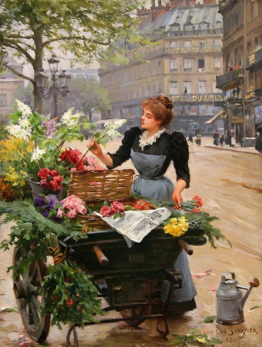 100年多前,她们是这样摆摊卖花的,好美的画面!插图7