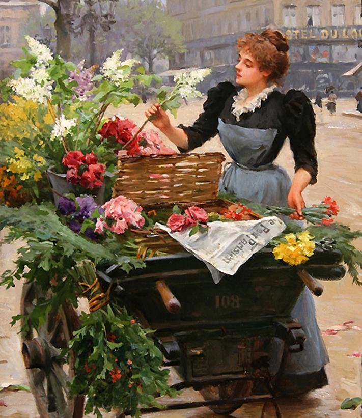100年多前,她们是这样摆摊卖花的,好美的画面!插图8