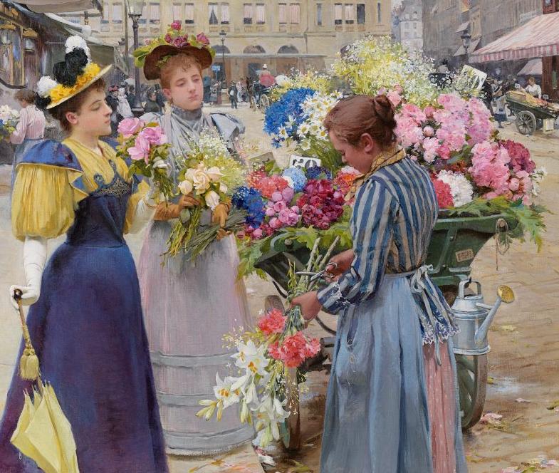 100年多前,她们是这样摆摊卖花的,好美的画面!插图10