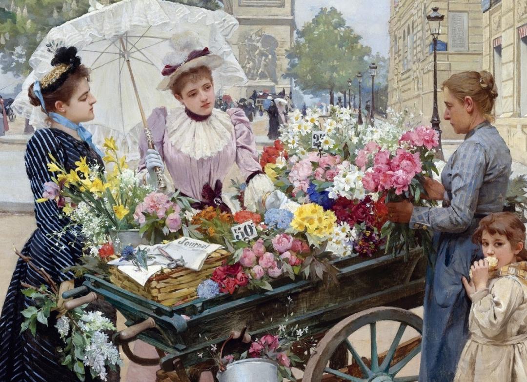 100年多前,她们是这样摆摊卖花的,好美的画面!插图12