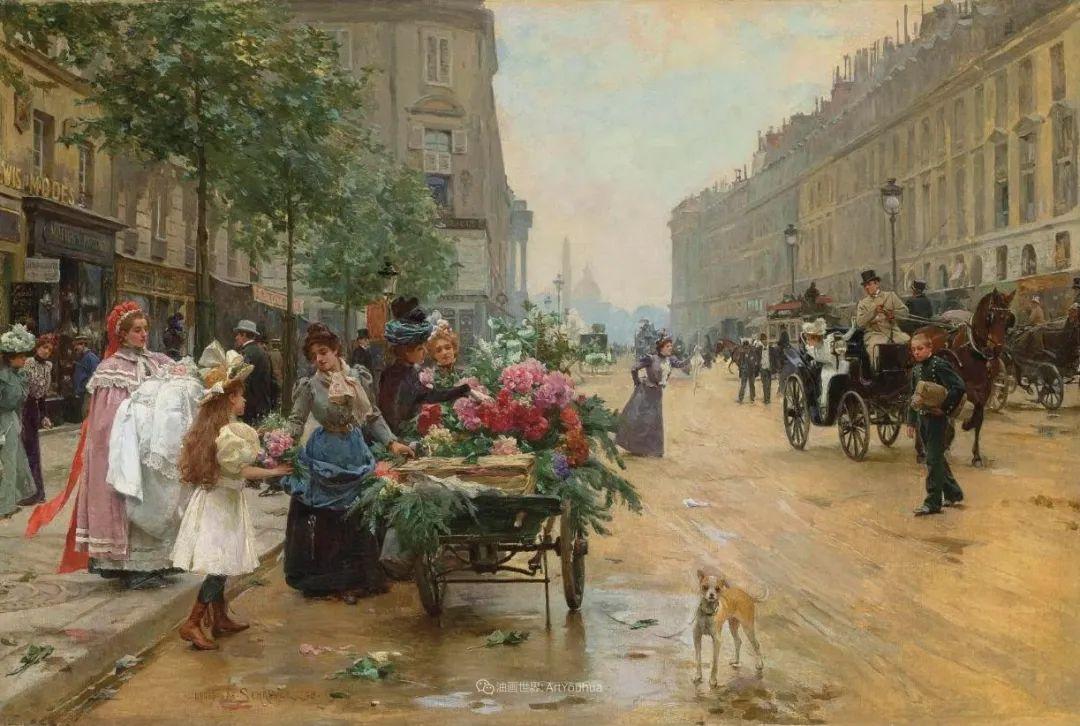 100年多前,她们是这样摆摊卖花的,好美的画面!插图13
