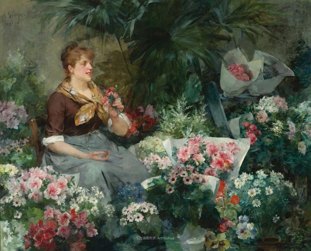 100年多前,她们是这样摆摊卖花的,好美的画面!插图14