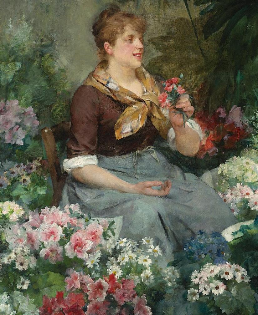 100年多前,她们是这样摆摊卖花的,好美的画面!插图15