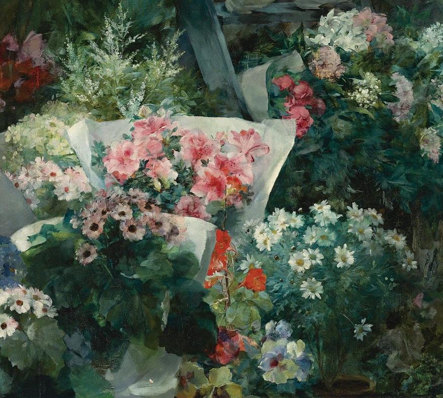 100年多前,她们是这样摆摊卖花的,好美的画面!插图16