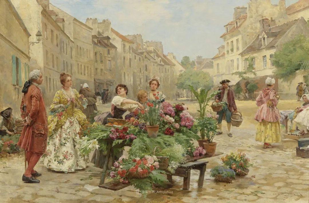 100年多前,她们是这样摆摊卖花的,好美的画面!插图17