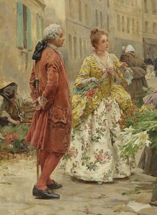 100年多前,她们是这样摆摊卖花的,好美的画面!插图18