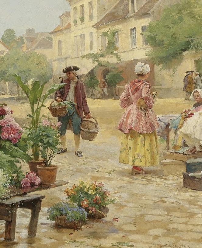 100年多前,她们是这样摆摊卖花的,好美的画面!插图20