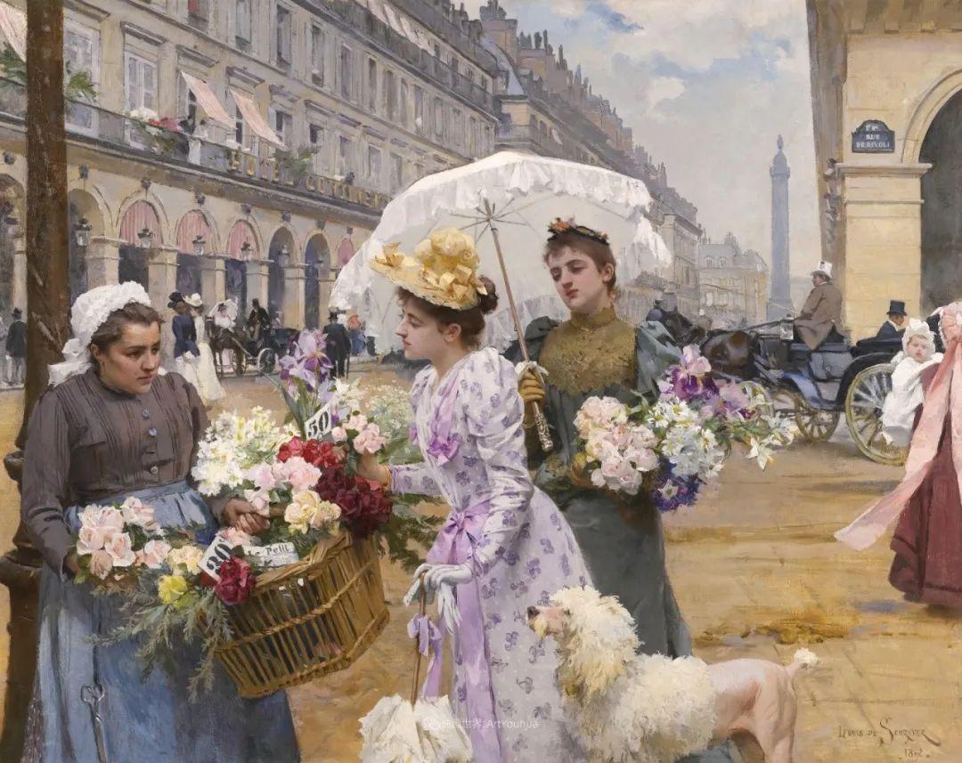 100年多前,她们是这样摆摊卖花的,好美的画面!插图21