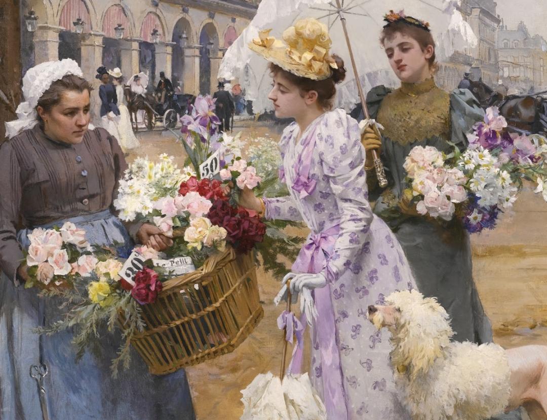 100年多前,她们是这样摆摊卖花的,好美的画面!插图22