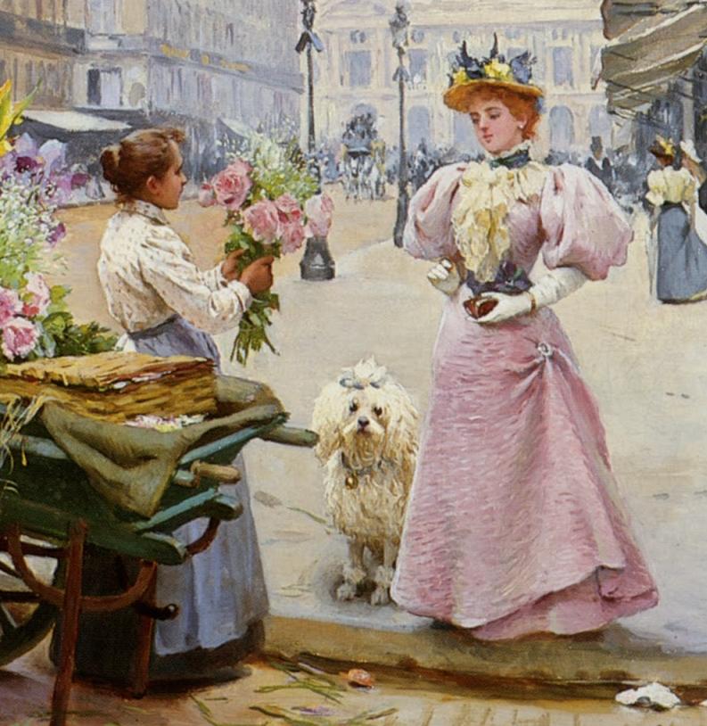100年多前,她们是这样摆摊卖花的,好美的画面!插图24