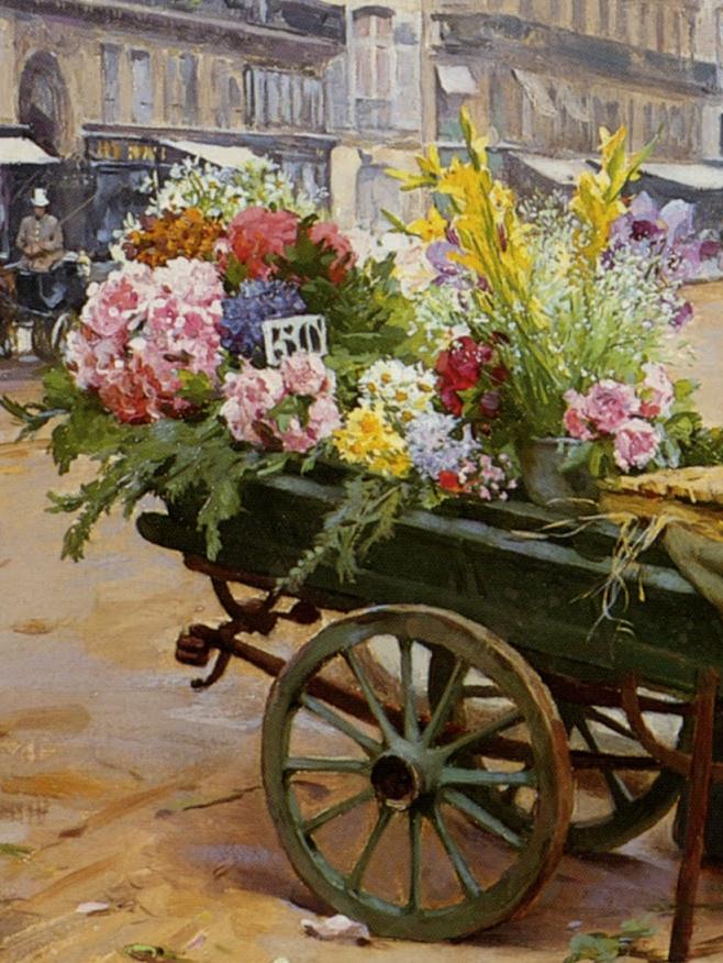 100年多前,她们是这样摆摊卖花的,好美的画面!插图25