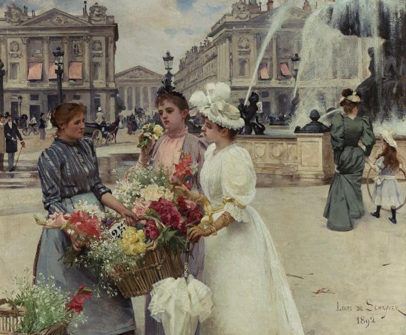 100年多前,她们是这样摆摊卖花的,好美的画面!插图27
