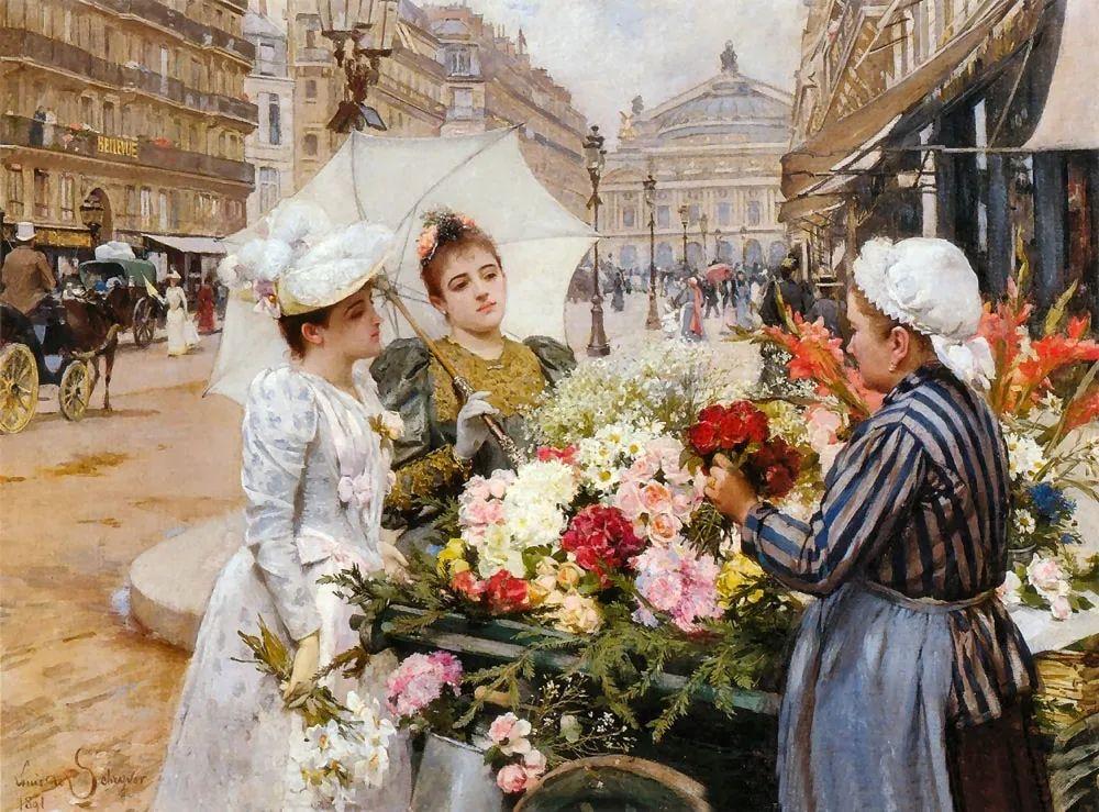 100年多前,她们是这样摆摊卖花的,好美的画面!插图28