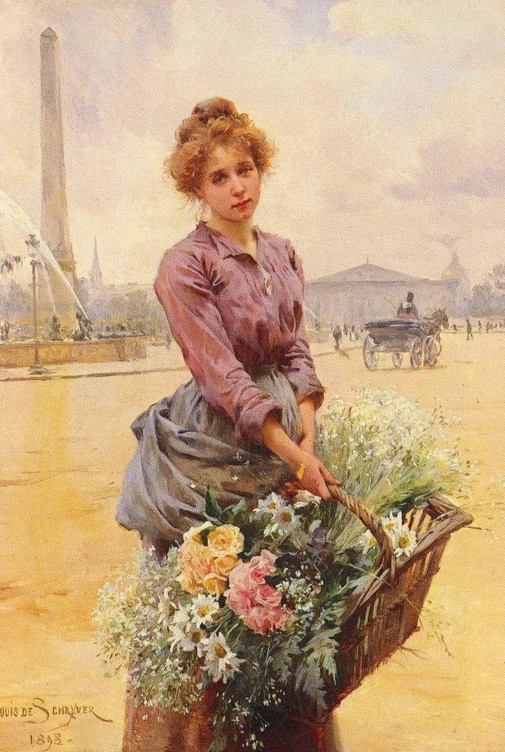 100年多前,她们是这样摆摊卖花的,好美的画面!插图29