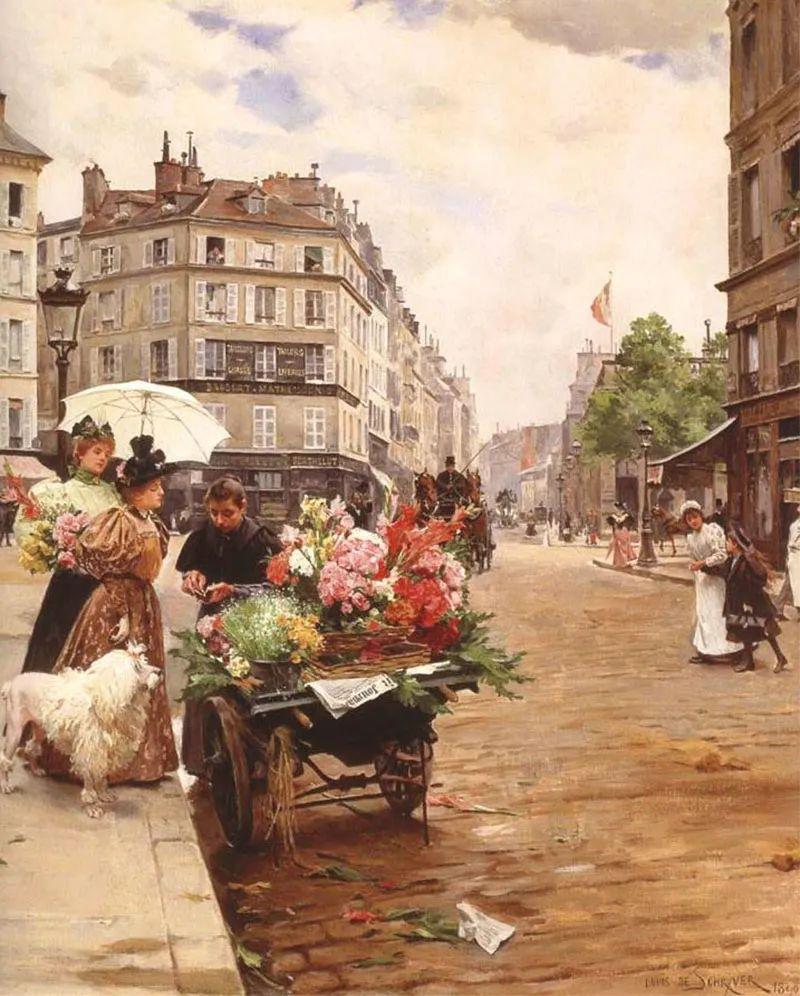 100年多前,她们是这样摆摊卖花的,好美的画面!插图30