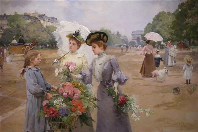 100年多前,她们是这样摆摊卖花的,好美的画面!插图31