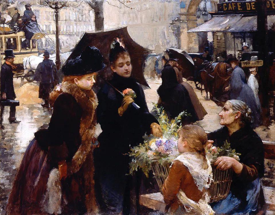 100年多前,她们是这样摆摊卖花的,好美的画面!插图32